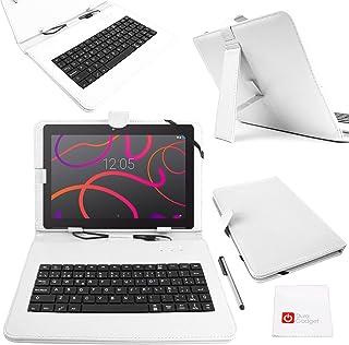 L/ápiz Stylus con Conexi/ón MicroUSB Funci/ón Atril DURAGADGET Funda//Teclado Color Rosa En ESPA/ÑOL con Letra /Ñ para Samsung Galaxy Note 10.1