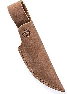 Angus Stoke Funda de Cuchillo de Cuero Caza, el Ocio y la Cocina - Funda de Cuchillo de cinturón de Cuero Extra Grueso - Bolsa de Cuchillos Jack