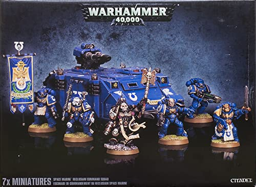 Warhammer 40K - Space Marine Reclusiam Squad Comhommed - 48-37 - Games Workshop
