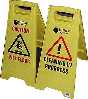 CAUTION suelos mojados/CAUTION de limpieza IN PROGRESS/A-Frame con texto en inglés - advertencia