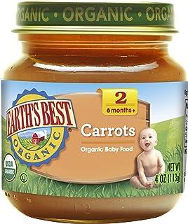 Earth's Best 婴儿辅食果泥 胡萝卜 4盎司(113g) 12包