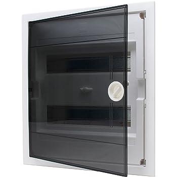Kopp rasante – Caja de distribución con Puerta de plástico de 2 Filas, para 24 Pole, 1 Pieza, Gris/Negro, 346002005: Amazon.es: Bricolaje y herramientas