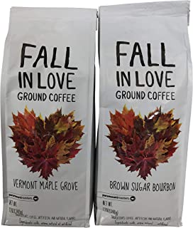 Fall in Love Coffee Bundle -- Vermont Maple Grove and Brown Sugar Bourbon -- Ground, 12 ounces each
