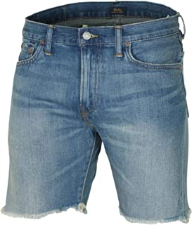 Polo Ralph Lauren Mens Sullivan Slim Jean Short, Fray Bottom, Destruct Denim Shorts