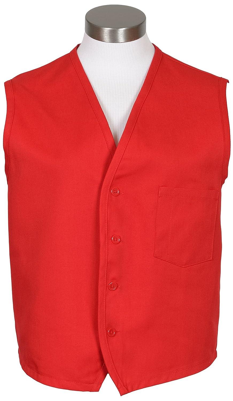 Fame Fabrics 28645 V40 Unisex Vest, Left Chest Pocket, Red, 2X