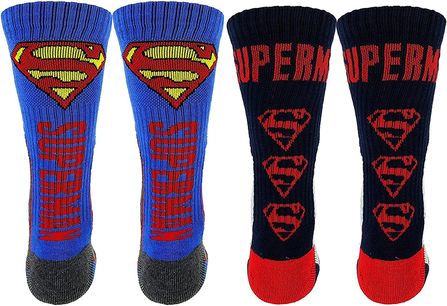 DC Comics Superman New popularity Athletic Socks Product 2 One Pack Pair Re Size Blue