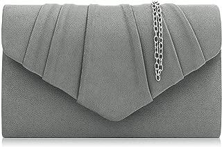 Women Evening Bag Velvet Pleated Clutch Purse Envelope Clutches