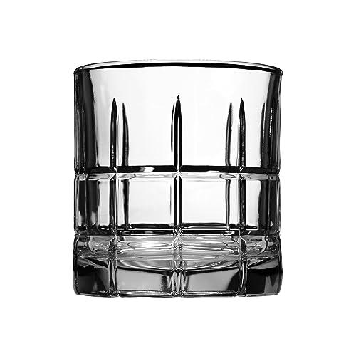 Anchor Hocking Manchester Rocks Old Fashioned Whiskey Glasses, 10.5 oz (Set of 4) - 68334L8