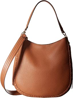 Unlined Convertible Hobo with Whipstitch
