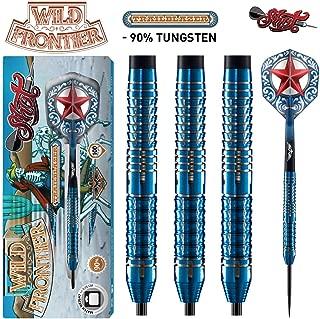 Shot! Darts Wild Frontier Trailblazer-Steel Tip Dart Set-Centre Weighted-90% Tungsten Barrels
