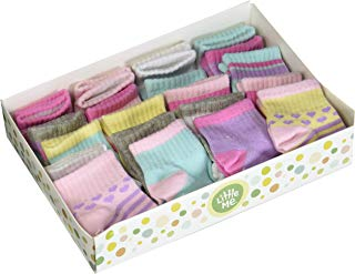 Little Me 20 Pair Pack Unisex Baby Infant Newborn Girls Anklet Socks in Gift Box Set, Sport, Multi, 0-12/12-24 Months
