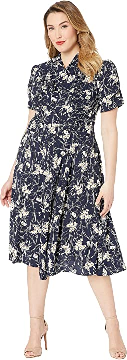 Navy/White Floral