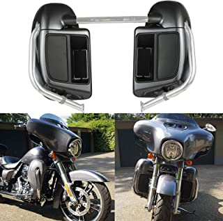 Us Stock Advanblack Charcoal Pearl Lower Vented Fairings Kit Glove Box Fit for Harley Touring Street Glide Road King 2014 2015 2016 2017 2018 2019