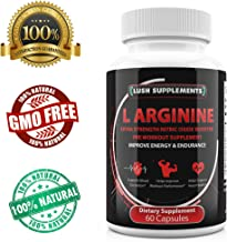 Extra Strength L Arginine - 1300mg Nitric Oxide Booster Supplement Capsule Pill - Amino Acids Improve Energy & Endurance, Boost Muscle Growth, Fat Loss, Stamina, Performance, Vascularity for Men Male