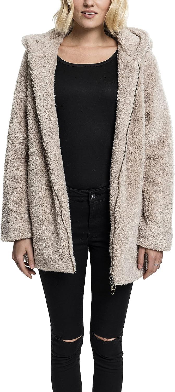 Urban Classics Max 84% OFF Ladies - Sacramento Mall SHERPA Winter Hoody Long Jacket