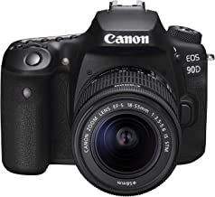 Canon 90DKIS Digital Camera - SLR Canon EOS 90D DSLR with EFS 18-55mm f/4-5.6mm STM Lens, Black (90DKIS)