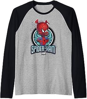 Marvel Spider-Man Spiderverse Spider-Ham Pose Manche Raglan