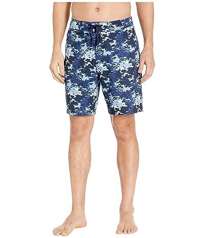 Southern Tide Graffiti Camo Water Shorts (True Navy) Men