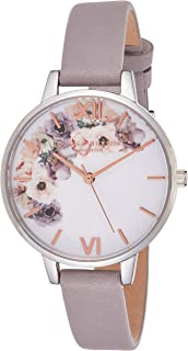 Olivia Burton Womens Quartz Watch, Analog Display and Leather Strap OB16PP56