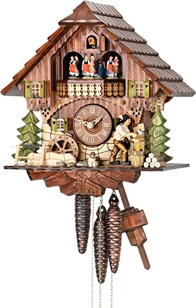 German Cuckoo Clock 1 Day Movement Chalet Style 12 00 Inch Authentic Black Forest Cuckoo Clock By Hekas