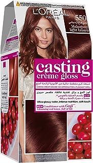 L'Oreal Paris Casting Creme Gloss 550 Mahogany Haircolor, Acajou