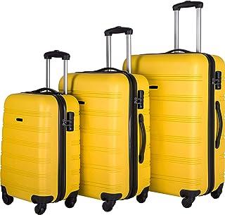 Anshunyin 3 Piece Luggage Set Multifunctional Large Capacity Traveling Storage Suitcase Hardside Spinner Suitcase with TSA...