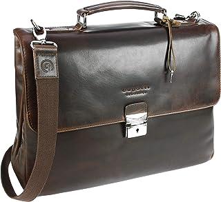 Bugatti Romano Aktentasche medium, Laptoptasche aus echtem Leder, Businesstasche 11, Bürotasche mit Laptopfach in braun Braun