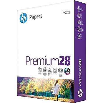 HP Printer Paper 8.5x11 Premium 28 lb 1 Ream 500 Sheets 100 Bright Made in USA FSC Certified Copy Paper HP Compatible 205200R