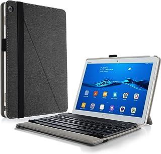 Infiland Huawei Mediapad M3 Lite 10 Teclado Funda, Ultra Fino Slim Keyboard Case con Magnético Desmontable Teclado Bluetooth Inalámbrico para Huawei Mediapad M3 Lite 10(10.1 Pulgada) Tablet(Negro)