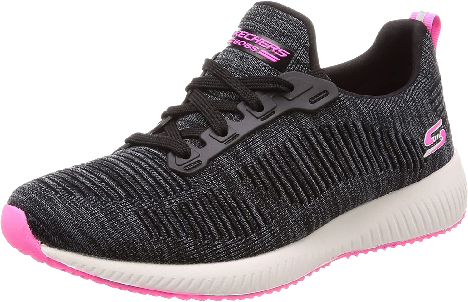 Skechers Womens Bobs Squad - Glossy Finish Fashion Sneaker