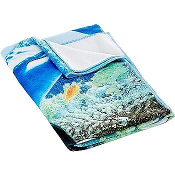 Coperta Asciugamano da Spiaggia in Microfibra Impermeabile Tappetino Assorbente Quick Dry Beach Mat da Picnic per Spiaggia Nuoto ECC Beach Sports JEANS DREAM Auveach Telo Mare 160 x 80 cm