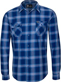 Dry Fit Flannel Shirt for Men Long Sleeve Button Down Moisture Wicking