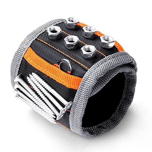 HORUSDY Magnetic Wristbandwith Strong Magnets For Holding Screws Nails Drilling Bits