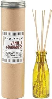 Paddywax Relish Collection Reed Oil Diffuser Set, Vanilla & Oakmoss
