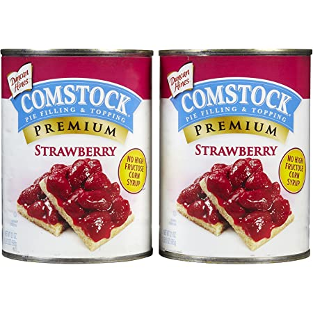 Amazon Com Comstock Strawberry Pie Filling Topping 21 Oz 2 Pk Grocery Gourmet Food