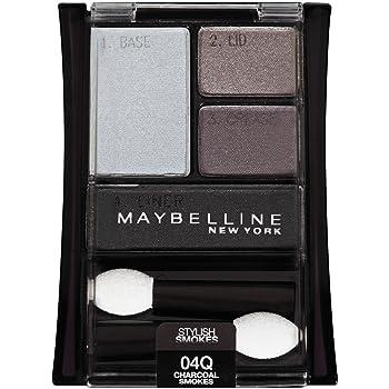 Maybelline New York Expert Wear Eyeshadow Quads, Stylish Smokes, 04q Charcoal Smokes, 0.17 Ounce