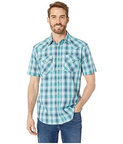Pendleton Short Sleeve Frontier Shirt (Teal/Blue Plaid) Men