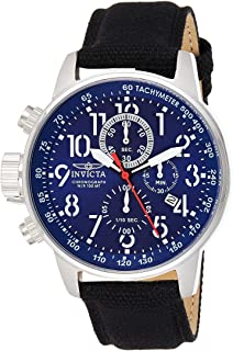 Invicta Mens Quartz Watch, Analog Display and Leather Strap 1513