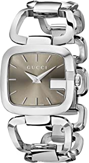 Gucci - YA125402 - Reloj de Cuarzo para Mujer, con Correa de Acero Inoxidable, Color Plateado