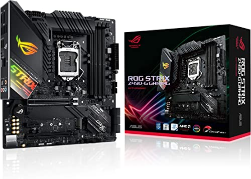 ROG STRIX Z490-G GAMING – Carte mère Intel Z490 LGA 1200 micro-ATX, 14 phases d'alimentation, DDR4 4600, Ethernet Int...