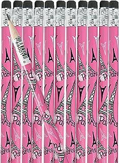 Fun Express Pink I Love Paris Pencils, 24 Count