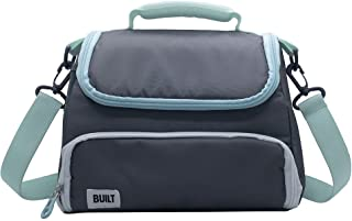 BUILT Prime Insulated Lunch Bag, 8.5-Inch, Gray