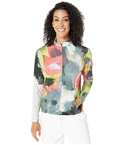 Jamie Sadock Sunsense(r) 50 UVP Bouquet Print Full Zip Jacket (Super Nova) Women