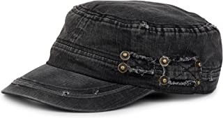 styleBREAKER Military Cap im Washed, Used Look, Vintage, verstellbar, Unisex 04023011