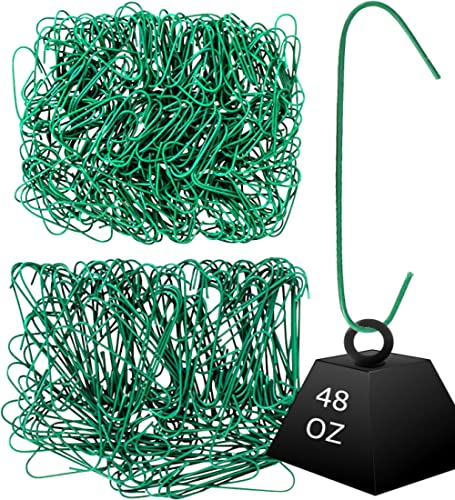 Iconikal 450-Count Heavy Duty Green Christmas Tree Ornament Hooks