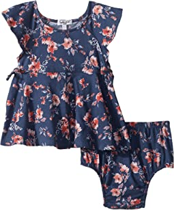 Floral Print Ruffle Dress (Infant)