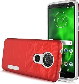 Moto E5 Plus / E5 Supra Case, Slim Protective Shockproof Cover for Motorola E5 Plus (Red)