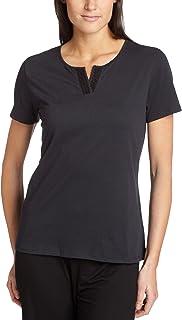 Nautica Women's Solid Short Sleeve Jersey Knit Sleep Tee