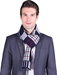 SEW ELEGANT NEW Mens Prime Warm Soft Knitted Stripes Winter Scarf
