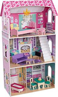 Kidkraft 65864 Dakota Wooden Dollhouse with Furniture and Accessories Included, 3 Storey Play Set for 30 cm Dolls